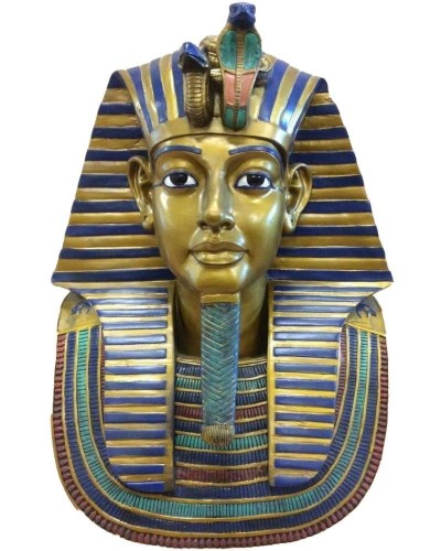 King Tut Bust 19 Inch Egyptian Pharaoh Statue at Egyptian Marketplace,  Egyptian Decor Statues, Jewelry & Art - God Statues & Museum Replicas