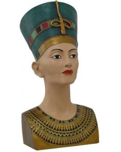 Nefertiti Egyptian Queen 18 Inch Bust at Egyptian Marketplace,  Egyptian Decor Statues, Jewelry & Art - God Statues & Museum Replicas