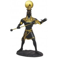 Ra Egyptian God of the Sun Back Statue