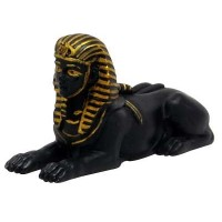 Androsphinx Egyptian Black and Gold 3 Inch Statue