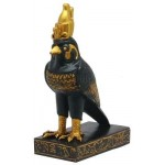 Horus Falcon Mini Black Egyptian God Statue at Egyptian Marketplace,  Egyptian Decor Statues, Jewelry & Art - God Statues & Museum Replicas