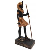 Egyptian Tomb Guardian Mini Statue Black and Gold