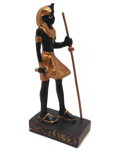 Egyptian Tomb Guardian Mini Statue Black and Gold at Egyptian Marketplace,  Egyptian Decor Statues, Jewelry & Art - God Statues & Museum Replicas