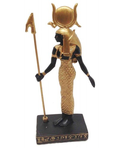 Hathor Egyptian Goddess Mini Statue at Egyptian Marketplace,  Egyptian Decor Statues, Jewelry & Art - God Statues & Museum Replicas