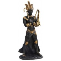 Osiris Egyptian God of the Underworld Black Resin Statue