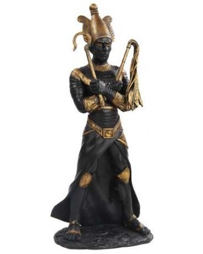 Osiris Egyptian God of the Underworld Black Resin Statue at Egyptian Marketplace,  Egyptian Decor Statues, Jewelry & Art - God Statues & Museum Replicas