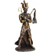 Osiris Egyptian God of the Underworld Bronze Resin Statue