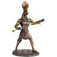 Ra Egyptian God of the Sun Bronze Statue
