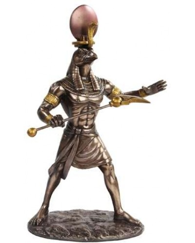 Ra Egyptian God of the Sun Bronze Statue at Egyptian Marketplace,  Egyptian Decor Statues, Jewelry & Art - God Statues & Museum Replicas