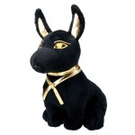 Anubis Egyptian Dog Small Plushie at Egyptian Marketplace,  Egyptian Decor Statues, Jewelry & Art - God Statues & Museum Replicas