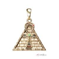 Ankh Pyramid Egyptian Necklace