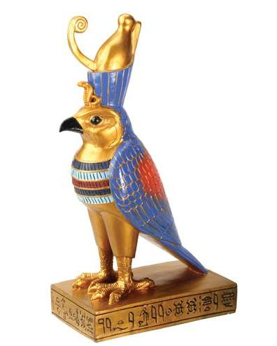 Horus Falcon Egyptian God Statue at Egyptian Marketplace,  Egyptian Decor Statues, Jewelry & Art - God Statues & Museum Replicas