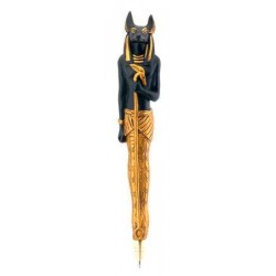 Anubis Refillable Ball Point Pen Egyptian Marketplace  Egyptian Decor Statues, Jewelry & Art - God Statues & Museum Replicas