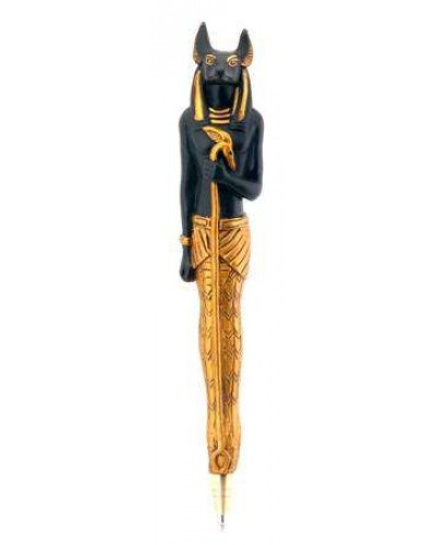 Anubis Refillable Ball Point Pen at Egyptian Marketplace,  Egyptian Decor Statues, Jewelry & Art - God Statues & Museum Replicas
