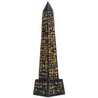 Egyptian Obelisk Black and Gold Statue