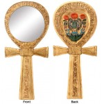 Ankh Egyptian Hand Mirror at Egyptian Marketplace,  Egyptian Decor Statues, Jewelry & Art - God Statues & Museum Replicas