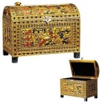 King Tut Hunting Scene Chest at Egyptian Marketplace,  Egyptian Decor Statues, Jewelry & Art - God Statues & Museum Replicas