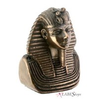 King Tut Miniature Bronze Resin Bust