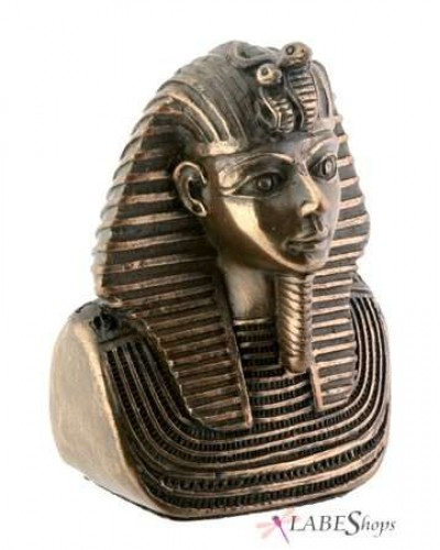 King Tut Miniature Bronze Resin Bust at Egyptian Marketplace,  Egyptian Decor Statues, Jewelry & Art - God Statues & Museum Replicas