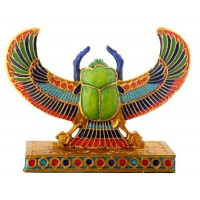 Winged Scarab Mini Statue