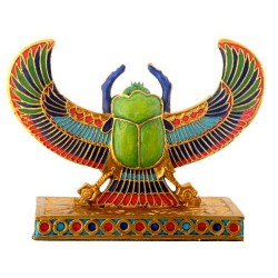 Winged Scarab Mini Statue Egyptian Marketplace  Egyptian Decor Statues, Jewelry & Art - God Statues & Museum Replicas