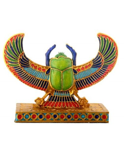 Winged Scarab Mini Statue at Egyptian Marketplace,  Egyptian Decor Statues, Jewelry & Art - God Statues & Museum Replicas
