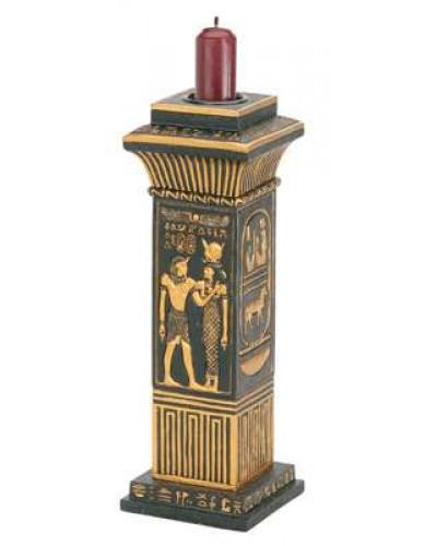 Egyptian Column Candle Holder