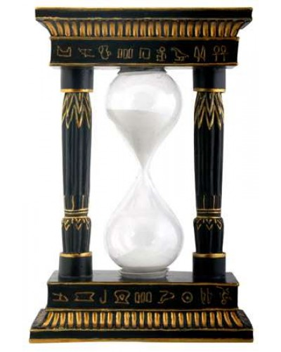 Pharaoh Column Sand Timer at Egyptian Marketplace,  Egyptian Decor Statues, Jewelry & Art - God Statues & Museum Replicas