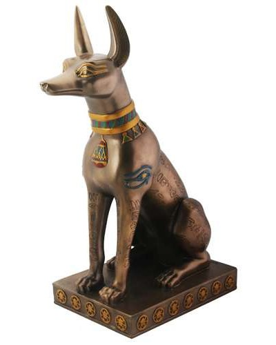 Anubis Bronze Hieroglyphic Dog Statue at Egyptian Marketplace,  Egyptian Decor Statues, Jewelry & Art - God Statues & Museum Replicas