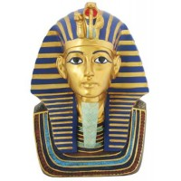 Golden Mask of King Tut Bust 9 Inch Statue