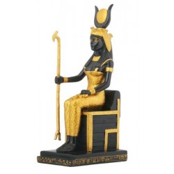 Isis Egyptian Goddess Sitting on Throne Statue
