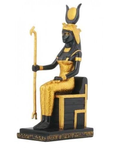 Isis Egyptian Goddess Sitting on Throne Statue at Egyptian Marketplace,  Egyptian Decor Statues, Jewelry & Art - God Statues & Museum Replicas