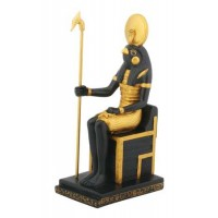 Horus Egyptian God on Throne Statue