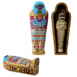 Saqqara Mummy in Mummy Case Egyptian Marketplace  Egyptian Decor Statues, Jewelry & Art - God Statues & Museum Replicas