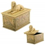 Sphinx Egyptian Trinket Box at Egyptian Marketplace,  Egyptian Decor Statues, Jewelry & Art - God Statues & Museum Replicas