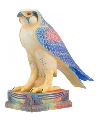Horus Egyptian Falcon Egyptian Color Statue at Egyptian Marketplace,  Egyptian Decor Statues, Jewelry & Art - God Statues & Museum Replicas