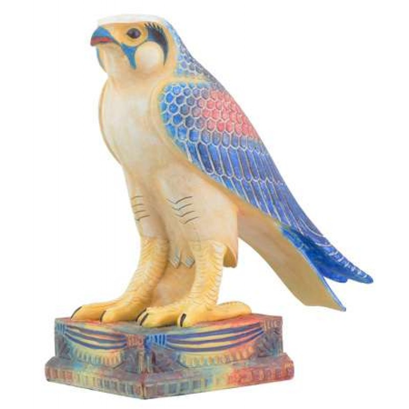 Horus As Falcon Color Egyptian Statue 65 Inches