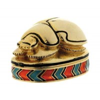 Scarab Jeweled Egyptian Gold Plated Box