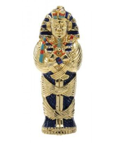 King Tut Coffin Jeweled Egyptian Gold Plated Box at Egyptian Marketplace,  Egyptian Decor Statues, Jewelry & Art - God Statues & Museum Replicas