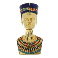 Nefertiti Egyptian Queen Gold Plated Jeweled Box