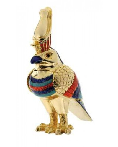Horus Falcon Jeweled Box at Egyptian Marketplace,  Egyptian Decor Statues, Jewelry & Art - God Statues & Museum Replicas