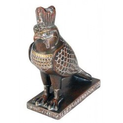 Horus Falcon Egyptian God Statue Brown Finish