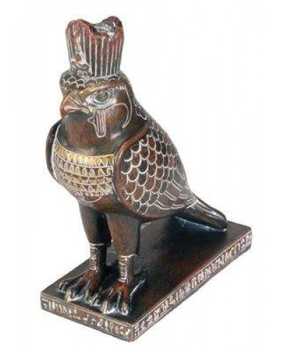 Horus Falcon Egyptian God Statue Brown Finish at Egyptian Marketplace,  Egyptian Decor Statues, Jewelry & Art - God Statues & Museum Replicas