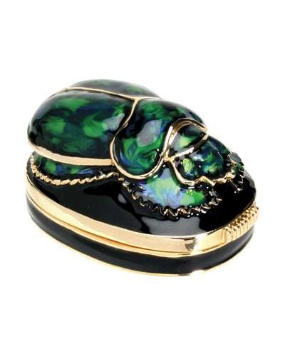 Scarab Green Jeweled Egyptian Gold Plated Box at Egyptian Marketplace,  Egyptian Decor Statues, Jewelry & Art - God Statues & Museum Replicas
