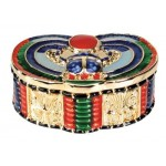 Winged Scarab Jeweled Box at Egyptian Marketplace,  Egyptian Decor Statues, Jewelry & Art - God Statues & Museum Replicas