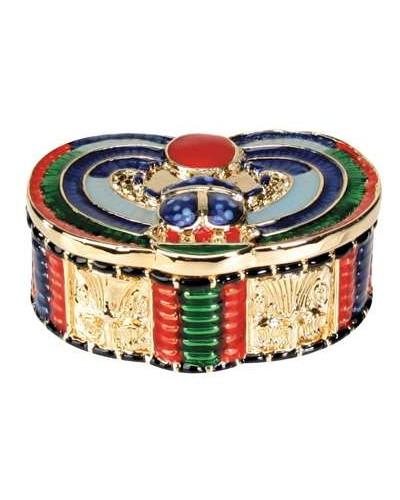 Winged Scarab Jeweled Box