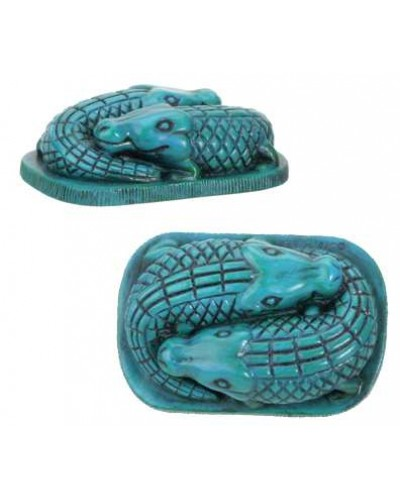 Faience Blue Egyptian Crocodile Statue at Egyptian Marketplace,  Egyptian Decor Statues, Jewelry & Art - God Statues & Museum Replicas