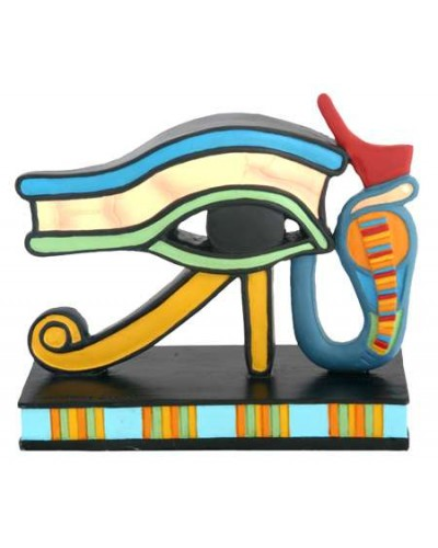 Wedjat Eye of Horus Mini Statue at Egyptian Marketplace,  Egyptian Decor Statues, Jewelry & Art - God Statues & Museum Replicas