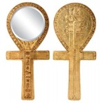 Egyptian Symbol of Power Ankh Hand Mirror at Egyptian Marketplace,  Egyptian Decor Statues, Jewelry & Art - God Statues & Museum Replicas