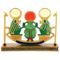 Khepri Rising Sun Barque Baboon Statue